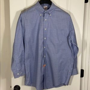 Brooks Brothers Button Down Blue White 16 32